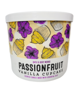 Bath & Body Works PASSIONFRUIT VANILLA CUPCAKE 3 Wick Large Candle 14.50... - $23.75