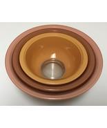 Vintage Pyrex Autumn Rainbow Mixing Nesting Bowls Set of 3 Two Tone Clea... - $59.99
