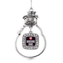 Inspired Silver Marching Band Classic Snowman Holiday Christmas Tree Ornament Wi - $14.69