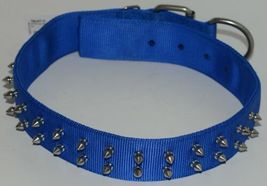Valhoma 760 S26 BL Spike Dog Collar Blue Double Layer Nylon 26 inches Pkg 1 image 7