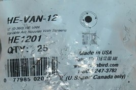 Rain Bird HEVAN12 High Efficiency Variable Arc Nozzle 10 to 12 foot Bag of 25 image 2