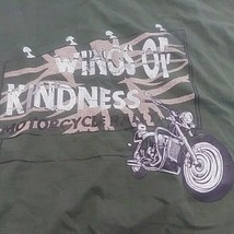 WINGS OF kindness MOTORCYCLE Rally TSHIRT T-SHIRT L - $14.76