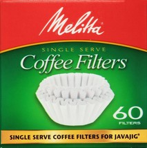 Melitta Java Jig Replacement Single-Serve Paper Coffee Filters, White, 6... - $9.99