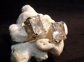 Rare Gorgeous Givenchy 60'S Rock Crystal Sterling Clip On Earrings ~ Minty ! - $123.75