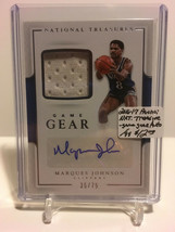 2016-17 Panini National Treasures - Game Gear AUTO #23 Marques Johnson 3... - $8.50