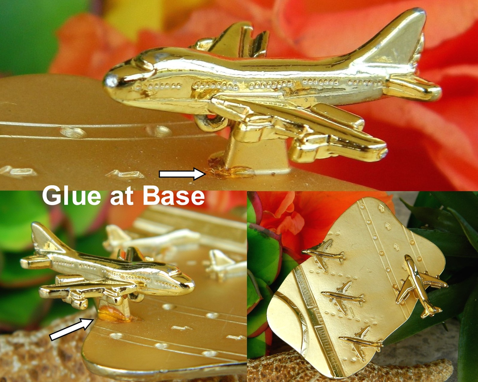 Vintage Navy Aircraft Carrier Flight Deck Military Airplane Brooch Pin