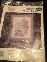 Needlework Poem Picture 60453 Counted Cross Stitch By Golden Bee New In ... - $25.73