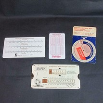 1963 AMPEX Frequency-Wavelength Calculator & Pressure Conv. Chart, Decim... - $9.49