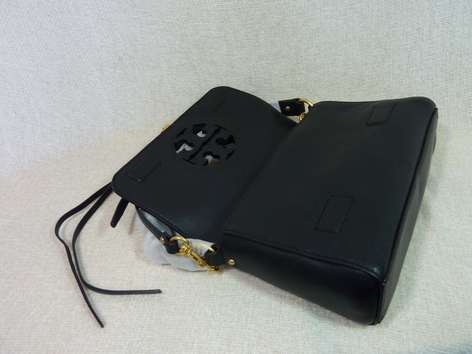 NWT Tory Burch Black Leather Miller Metal Cross-Body Bag/Mini Shoulder Bag $398 image 7