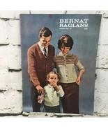 Vintage 1967 Bernat Raglans Knit Pattern Book Number 97 Collectible  - $9.89