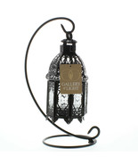 Black Metal Moroccan Tabletop Candle Lantern w/Stand - $13.81