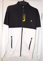 Polo Ralph Lauren Men's Blk/Wht Performance Zip Up Jacket, US LT Tall - $125.00