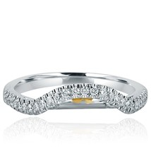 Diamond Wedding Enhancer Guard Ring 18k White Gold Band 0.30 Carat - £666.71 GBP