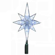 Kurt Adler 10-Light 10-1/2-Inch Clear LED 8-Point Star Treetop - $19.27