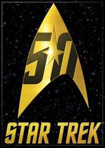 Star Trek 50 Years of Trek The Original Series Command Logo Magnet, NEW UNUSED - $3.95