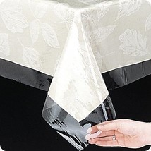 "Table Cloth Protective Cover Clear 54"" X 72"" OVAL Shape 3 Gauge Vinyl - $7.50"