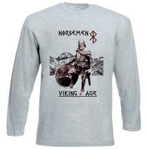 Viking Age Norsemen - New Cotton Grey Tshirt - $26.49