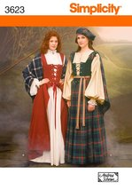 Simplicity Sewing Pattern 3623 Misses Costumes, RR (14-16-18-20) - $49.74