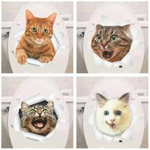 % Vinyl waterproof Cat Dog 3D Wall Sticker Hole View Bathroom Toilet Liv... - £8.02 GBP