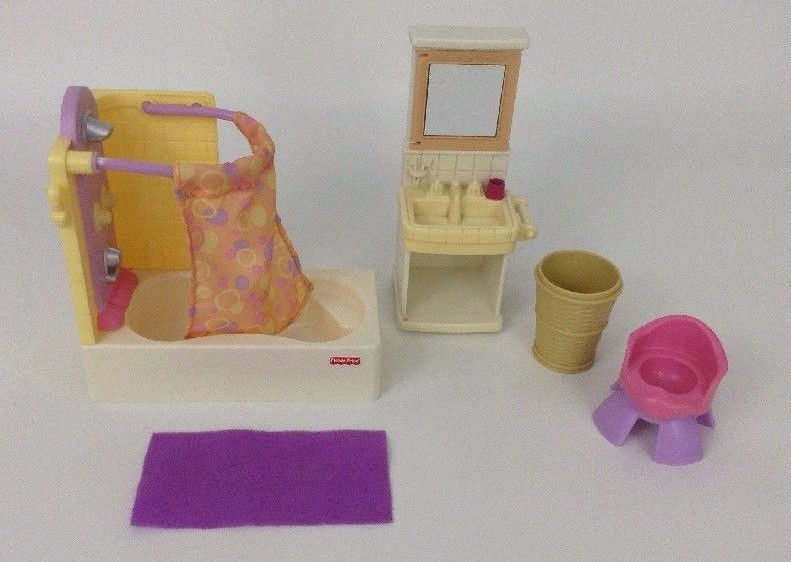 Fisher Price Loving Family Lot Bathroom Set And Similar Items 57