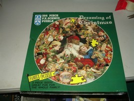 "F.X. Schmid 1994 Dreaming of Christmas 356pc Family Jigsaw Puzzle 20-1/2"" New - $14.84"