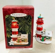 1997 Lighthouse Greetings #1 Magic Hallmark Christmas Tree Ornament MIB - $42.08