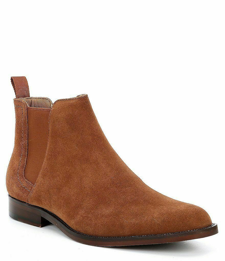 Handmade Men's Brown Suede High Ankle Chelsea Boots