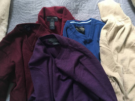 lot of 5 men's  sweaters runs xs to small j crew Abercrombie the mens store H&m - $29.00