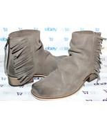 ❤️ SEYCHELLES Horde Fringe Antiqued-Taupe Suede Back-Zip Boots 7 M NEW! ... - $72.90