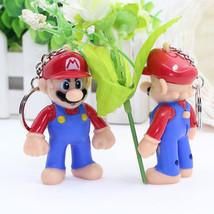 1PCS Super Mario Figures Light led Sound PVC Bros Key chains gift llave ... - $9.87