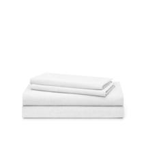 New Ralph Lauren Graydon Melange 4 Piece Full White 100% Cotton Sheet Set - $78.39