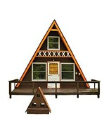 A-Frame Cabin Plans 24' x 21' Two Story A Frame Cabin Vacation Tiny Hous... - $24.95