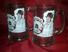 Two Oktoberfest 1980 Illustrious Potentate Oskar Huber Glass Stein Tanka... - $34.64