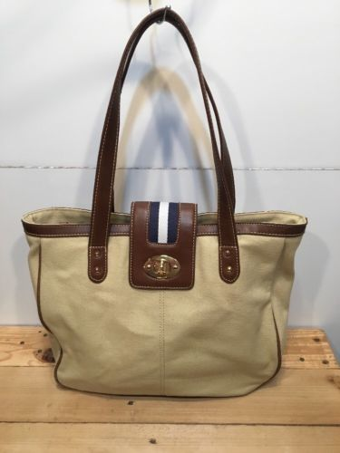 f3c7b26061 CHAPS Ralph Lauren Canvas Tan Brown Tote and 50 similar items. 12