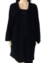 Alfani Black Women's Size Large Open-Front Cardigan Wool Sweater $179 - $28.70