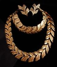 Vintage Coro Parure - Choker - bracelet - clip on earrings - designer je... - $95.00