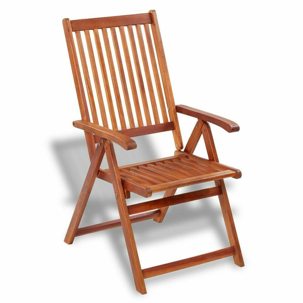 vidaXL 2x Acacia Wood Outdoor Dining Chair Home Kitchen Furniture Seat Dinner image 3