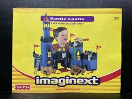 Fisher Price Imaginext Battle Castle 78333 Instructions Only - $6.83