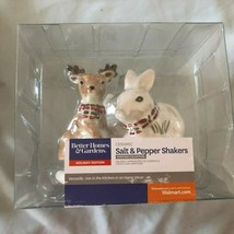 Better Homes & Gardens Ceramic Salt and Pepper Shakers Holiday edition C... - £11.59 GBP