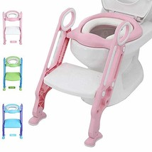 Potty Training Toilet Seat with Step Stool Ladder for Kid and Baby, Adju... - $33.82