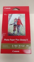 "NEW Canon PP 301 Photo Paper Plus Glossy II in 4"" x 6""  100 Sheets per package - $13.84"