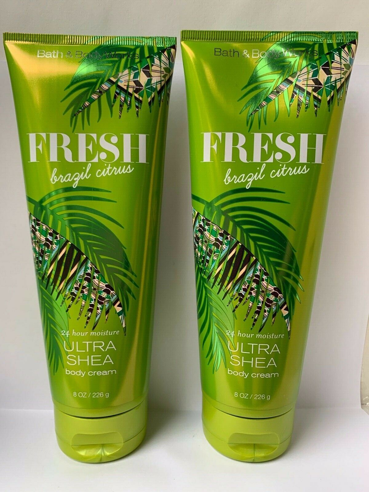 Bath and Body Works FRESH BRAZIL CITRUS Pineapple Mango Tiare Flower Cream x2