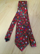 Alynn Men's Tie Christmas Print Ribbons & Ornaments Neck Tie 4 X 60 - $11.63