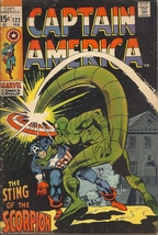 (CB-50) 1970 Marvel Comic Book: Captain America #122 ( Cap vs Scorpion )  - $35.00