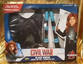 New Marvel Civil War Captain America Black Widow Dress Up Set Costume Ju... - $24.61
