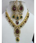 Indian Bollywood Ethnic Gold Tone Multi-Color Bridal Wedding Fashion Jew... - $16.88