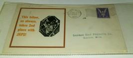 1943 DEVIL JAPS WORLD WAR 2 PATRIOTIC PROPAGANDA COVER Date Stampeded Sa... - $18.55