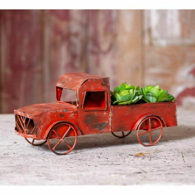 Primary image for Country new Ol Red Farm Truck in Distressed Red Metal