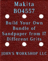 Build Your Own Bundle of Makita BO4557 1/4 Sheet No-Slip Sandpaper - 17 Grits! - $0.99