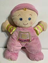 Fisher Price Pink My First Doll Stuffed Plush Baby Rattle Security Lovey... - $15.57